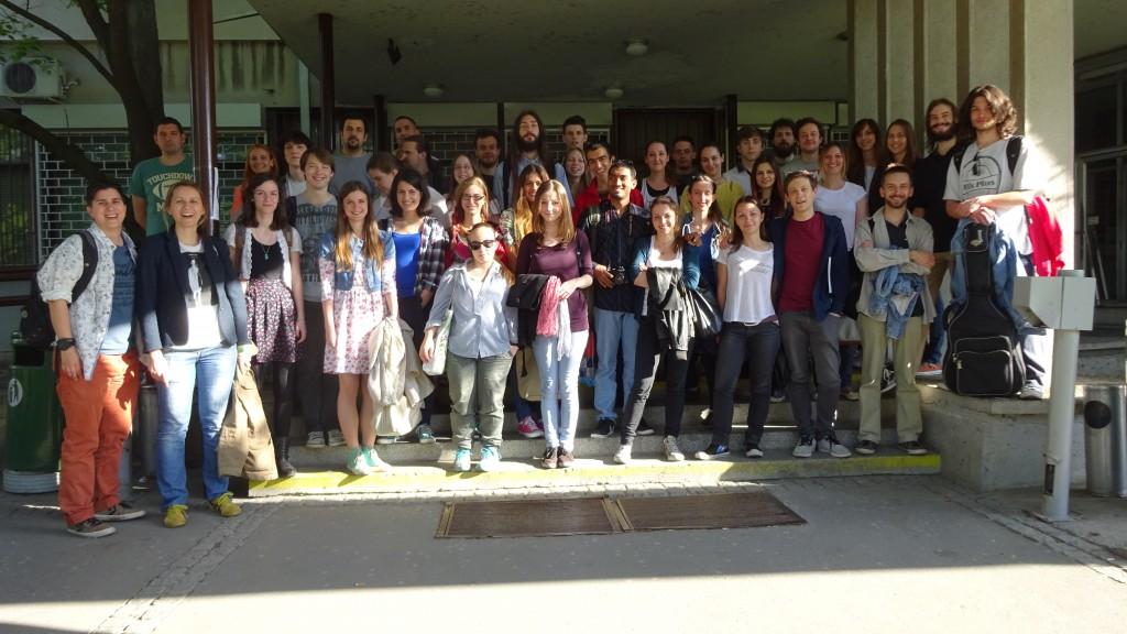 Ucesnici 8. Studentske astronomske radionice, 25. april 2015.